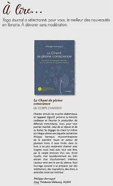 esprit yoga 01032019 chronique livre le chant de pleine conscience (1)